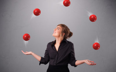 Imagine life as a game in which you are juggling five balls in the air